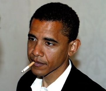 Obama and his cigarette