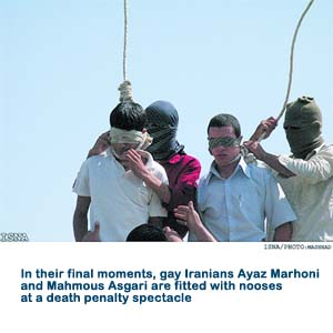 Gays hanged in Iran