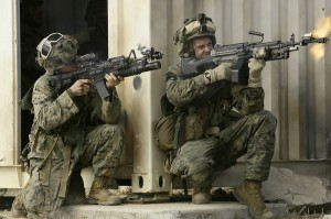United States Marines with 34d Battalion, 5th Marine Regiment, 31st  Marine Expeditionary Unit at Urban Operations Training Facility