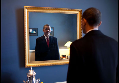 Obama at the mirror