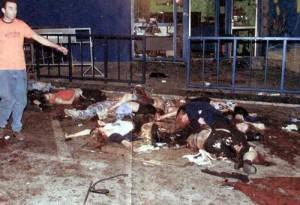 Carnage after terrorist bomb in Tel Aviv