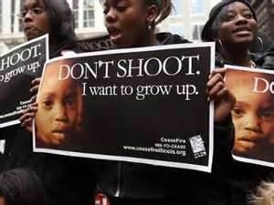 Chicago protest Don't shoot I want to grow up