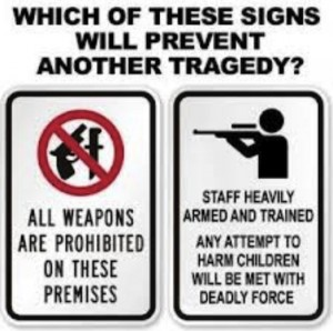 Dueling signs