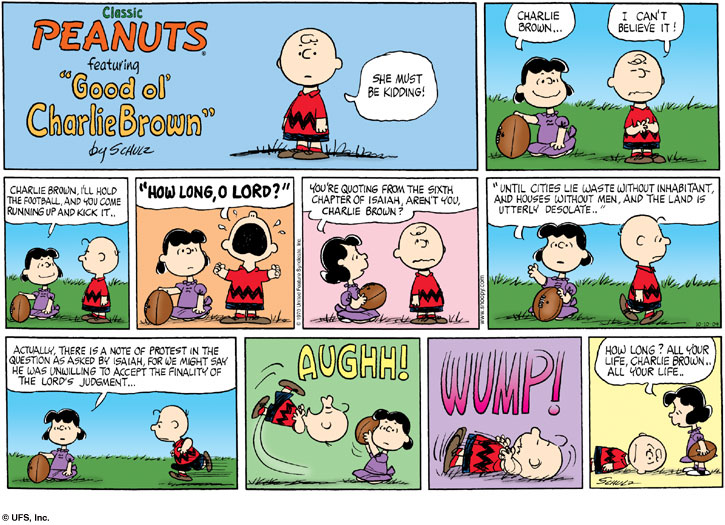 Peanuts-Lucy-holds-football-for-Charlie-Brown