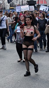 Slut walk in London 2011 (image by Chris Brown)
