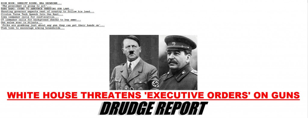 Drudge Report headline re Obama proposed executive order