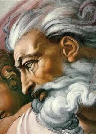 Face of God Sistine Chapel