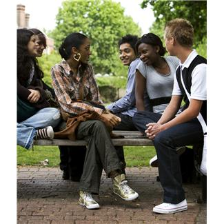 Group of students talking
