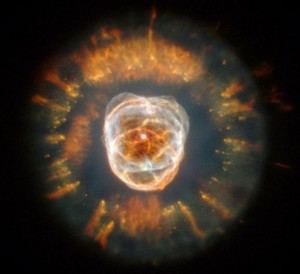 Hubble image of a dying star in the Eskimo Nebula