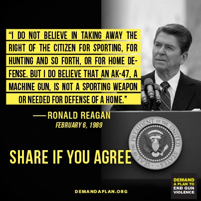Ronald Reagan on weapons