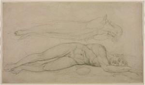 William Blake's soul hovering over body