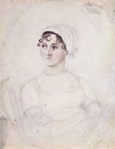 Pen and ink portrait of Jane Austen
