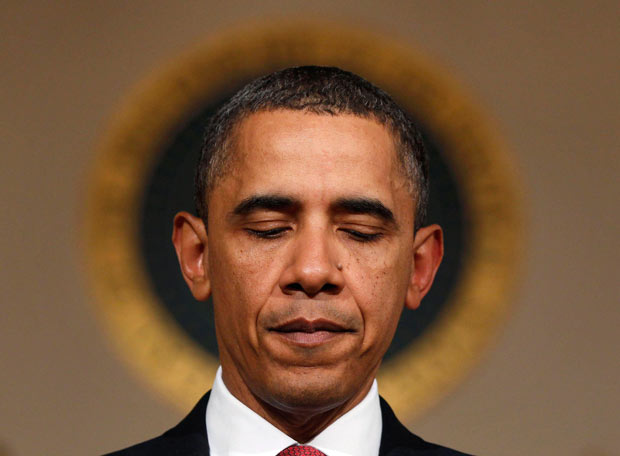 Obama with halo