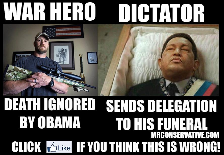 Chris Kyle and Hugo Chavez