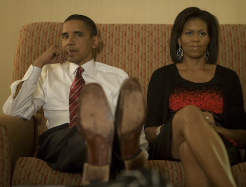 The Obama's on election night 2008
