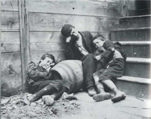 Jacob Riis image of street kids