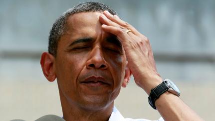 Obama sweating