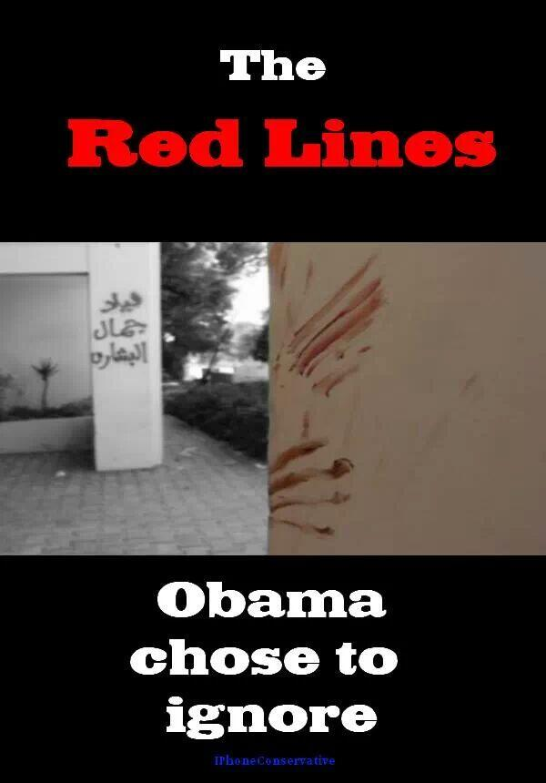 The red lines Obama chose to ignore