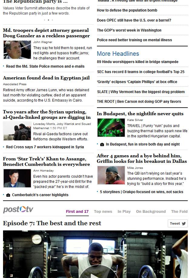 Homepage WaPo 2