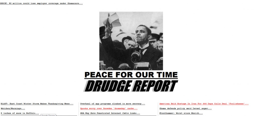 Obamaworld in a Matt Drudge nutshell