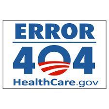 Obamacare error 404