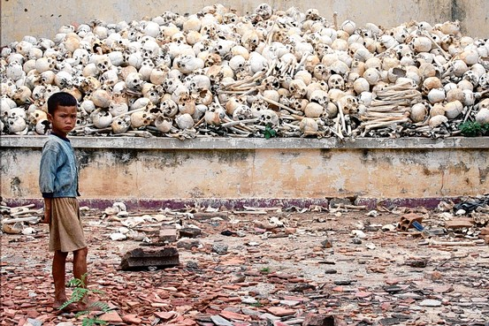 Cambodian dead from killing fields