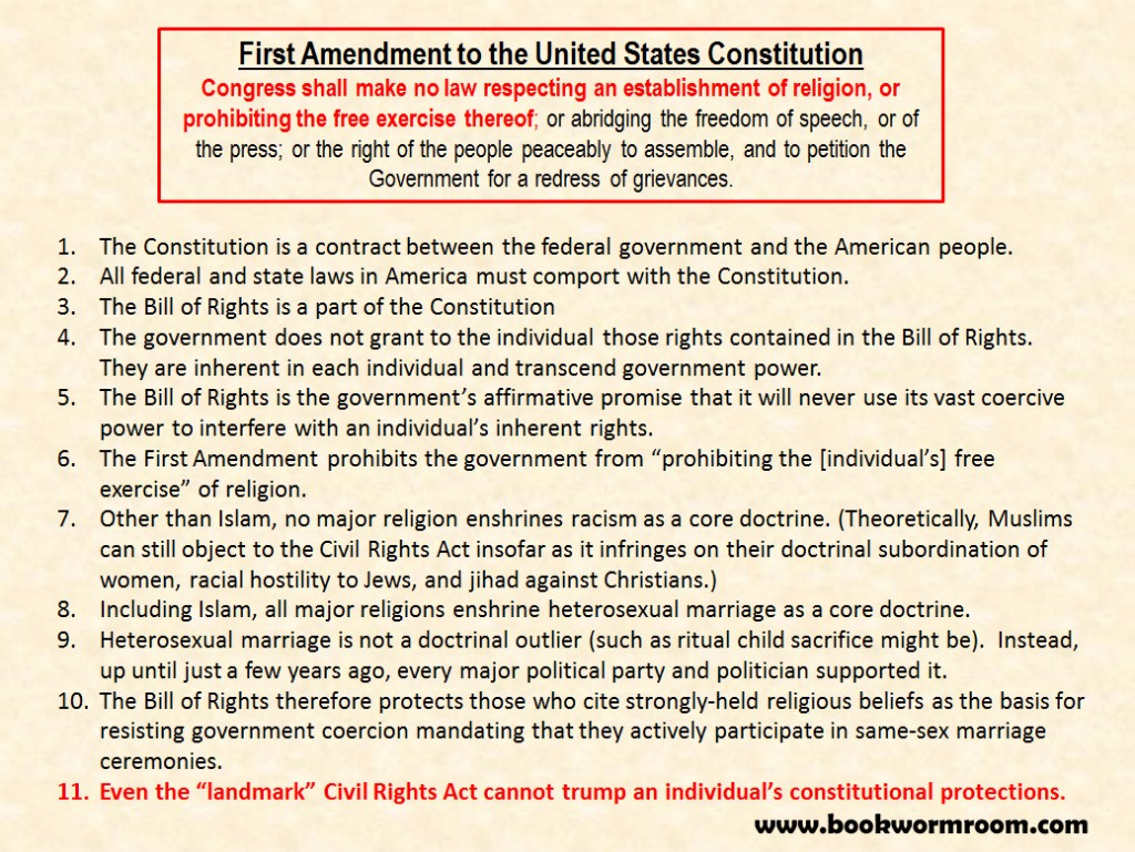 Bill of Rights versus Civil Rights Act 1
