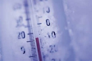 Freezing temperature thermometer
