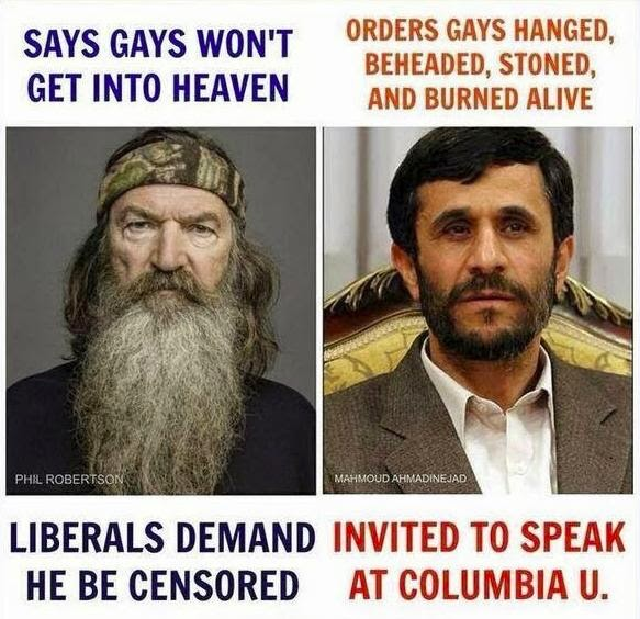 Phil Robertson versus Ahmadinijad