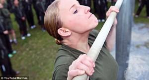 Women marines pull-ups
