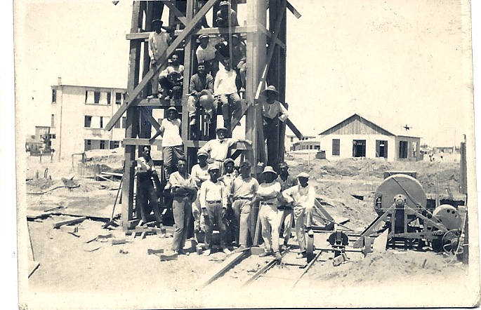 Construction site in Tel Aviv, 1920s
