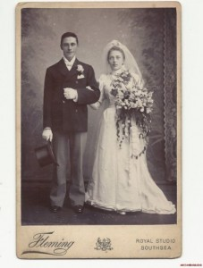 Victorian wedding photo