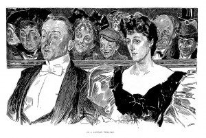 In a London Theater (by Charles Dana Gibson)
