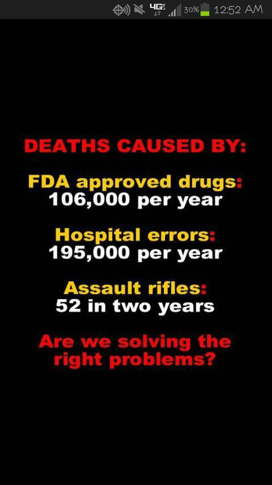 Guns not as deadly as other things