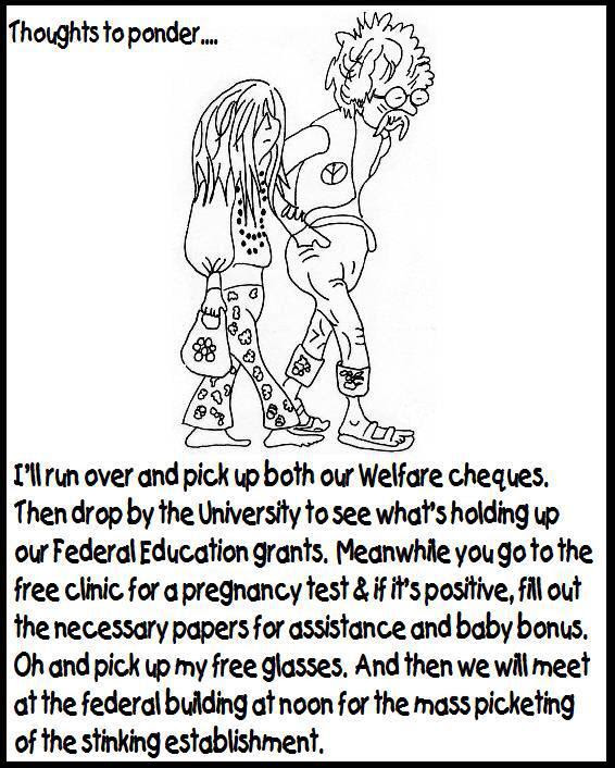 Hippies on handouts