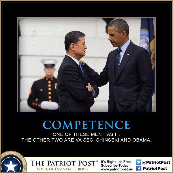 Obama Shinseki and a Marine
