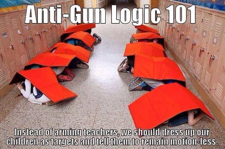 Anti-gun logic with kids as targets