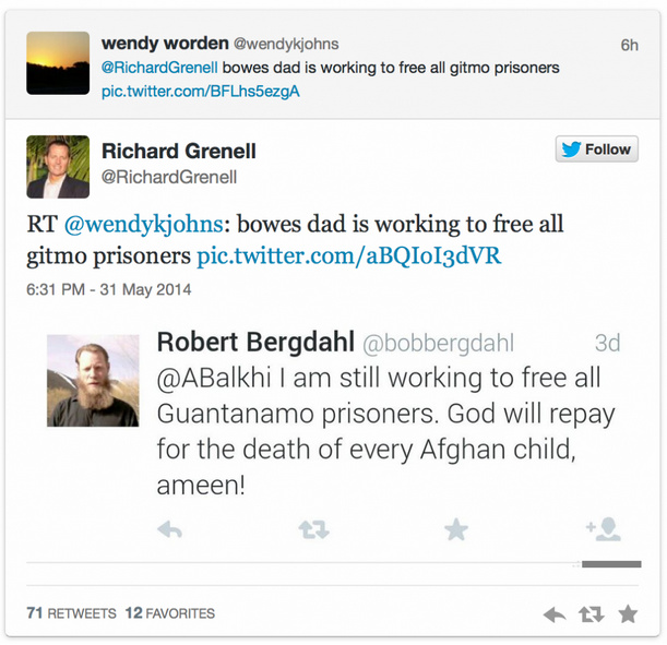 Bob Bergdahl tweet