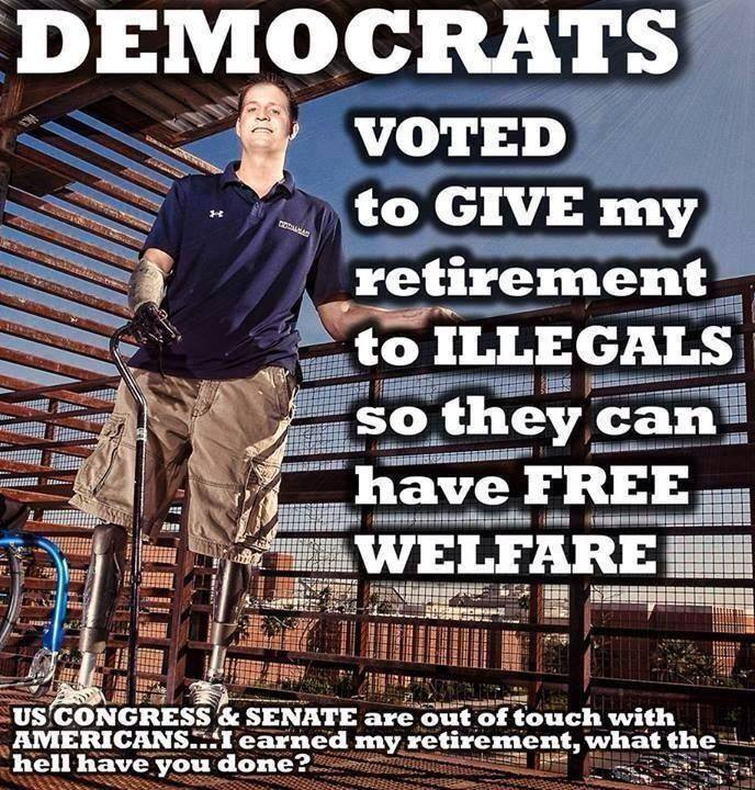 Dems give money to illegals not vets
