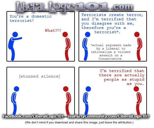 Liberal logic about terrorism