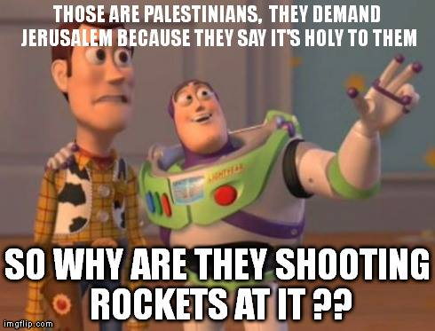 Rockets aimed at the Holy City