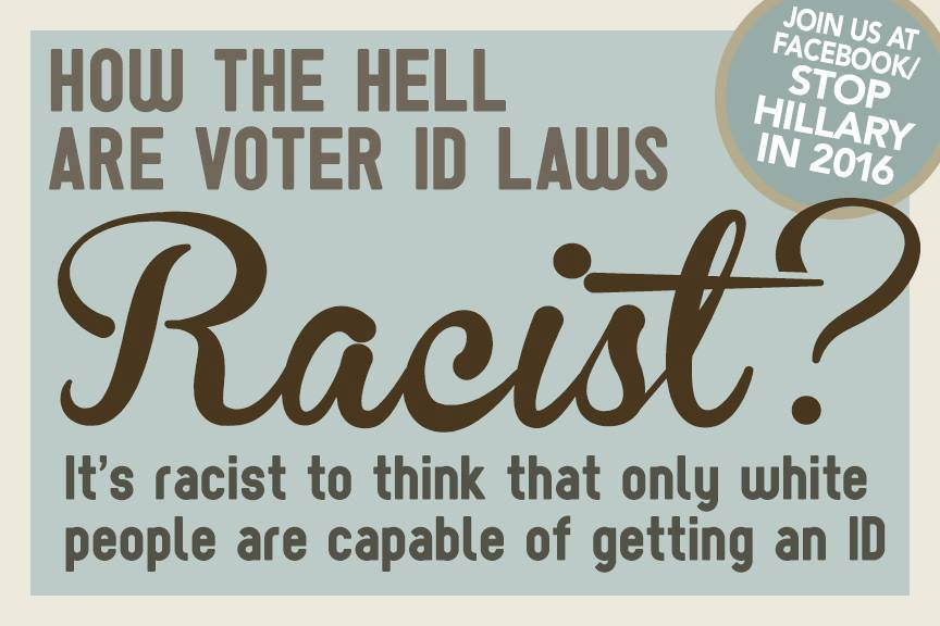 Voter ID laws cannot be racist