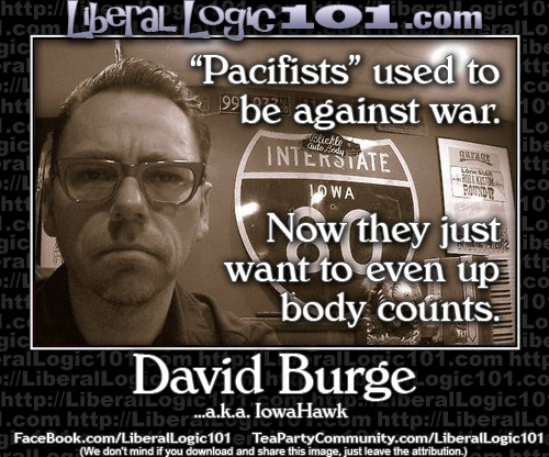 David Burge on pacifists