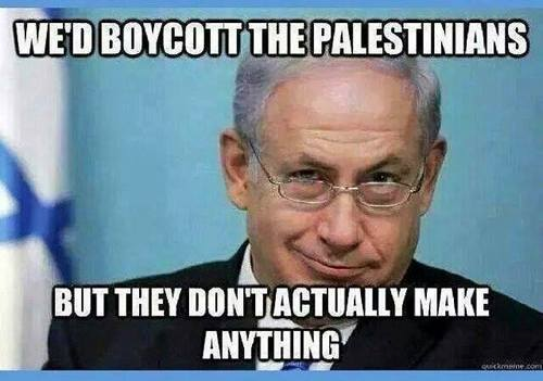 Impossible to boycott Palestinians
