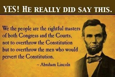 Lincoln on the constitution