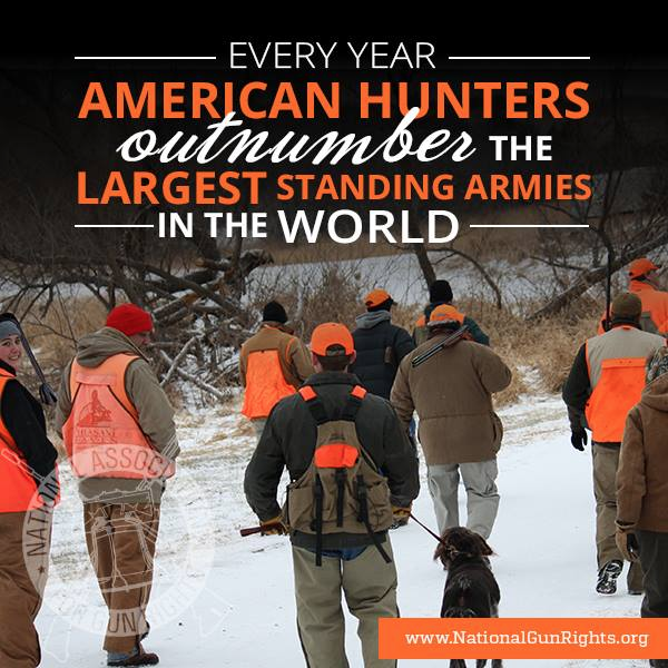 More American hunters than standing armies