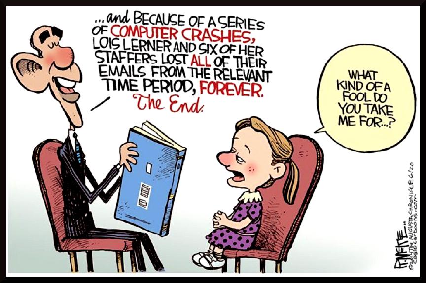 Obama's Lois Lerner bedtime story