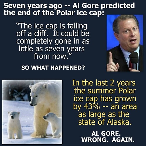 Al Gore is an idiot on ice caps