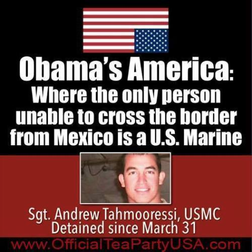 Andrew Tahmooressi unable to get into America from Mexico