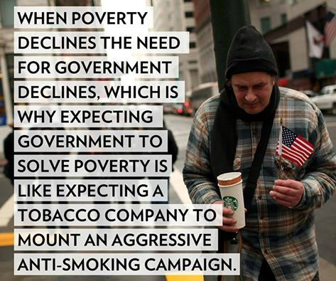 Big government creates poverty